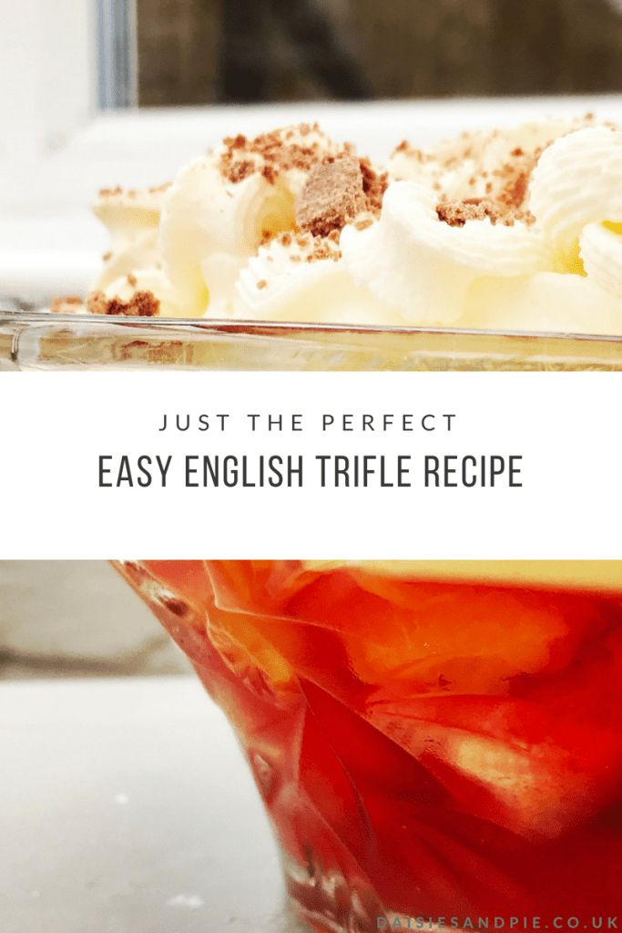 The PERFECT (really really easy) English trifle recipe - throw together this delicious easy dessert in not time - perfect for celebration dinners, parties and just because you fancy a bowlful of retro trifle #easydessert #puddingrecipes #trifle #jellyrecipes #partyfood