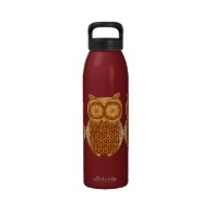 Groovy Owl Water Bottle