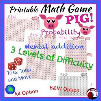 A favorite Math Game for your Math Center! Teach concepts of mental addition and probability with FUN!  Kids love this game because they don't have to share or take turns! This suits home or classroom. This is an old pencil and paper game, but I've revamped it with these laminated, re-useable boards. Save paper!