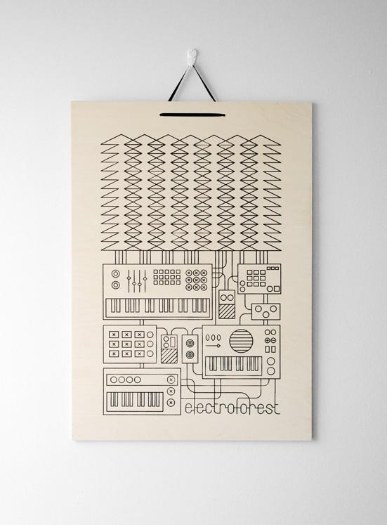 """""""Electroforest"""" Design by Kristiina Haapalainen & Sami Vähä-Aho 2009."""
