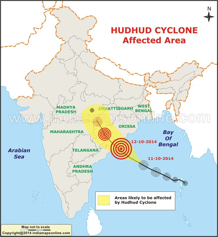 About Cyclone HudHud path and affected area Map, Live Updates. 'Hudhud' Cyclone has moved closer to the cost of Orissa and Andhra Pradesh and will hit the two states by October 12.