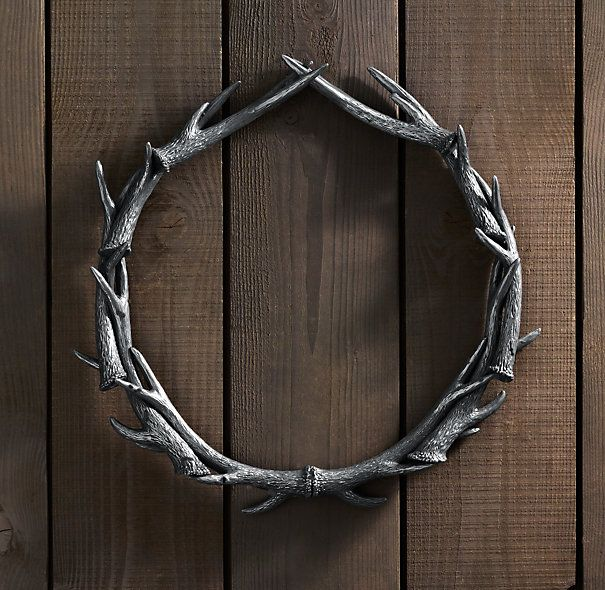 Weathered Aluminum Antler Wreath from Restoration Hardware
