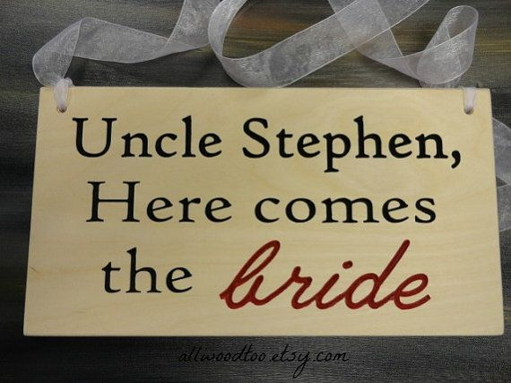 Ring Bearer Sign Flower Girl Sign Wedding Signs by AllWoodToo, $35.00 #ringbearersign #weddingsigns #rusticsigns