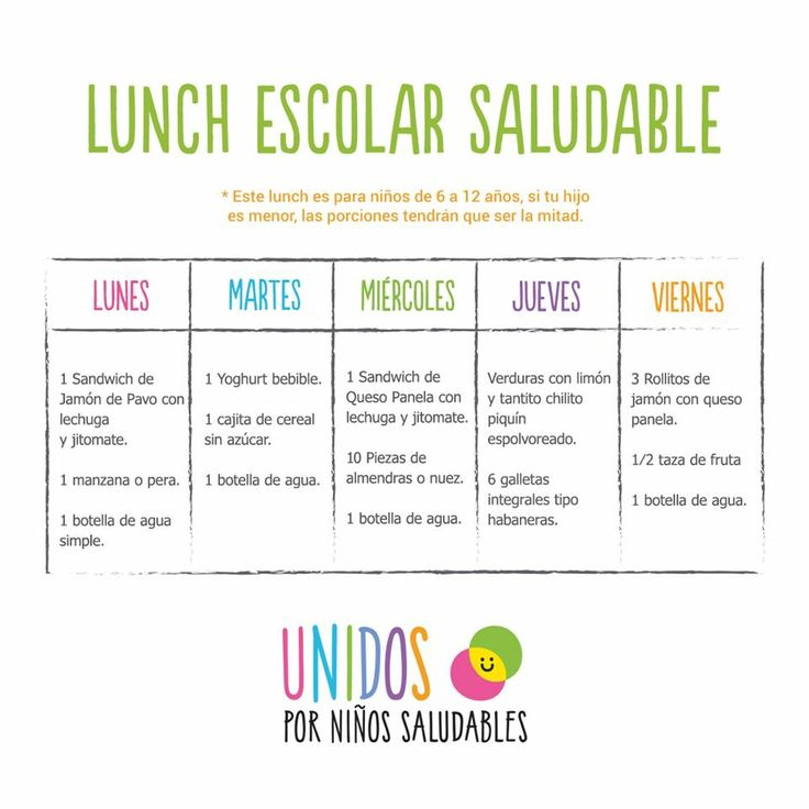 Lunch Escuela Saludable