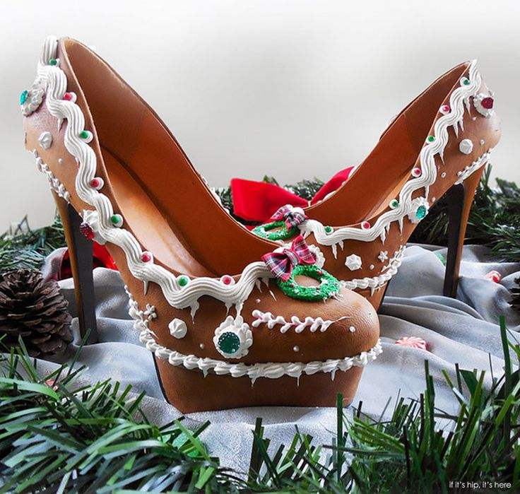Perfect for The Holidays! #Gingerbreadheels  | http://www.ifitshipitshere.com/wearable-confections-shoe-bakery-will-give-sugar-high/