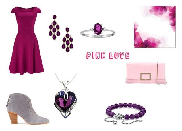 """""""pink love"""" by mary-minge on Polyvore featuring Blu Bijoux, David Yurman, Roger Vivier, women's clothing, women, female, woman, misses and juniors"""