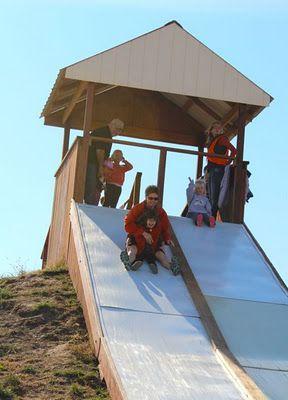 hillside slide...looks a little intense.