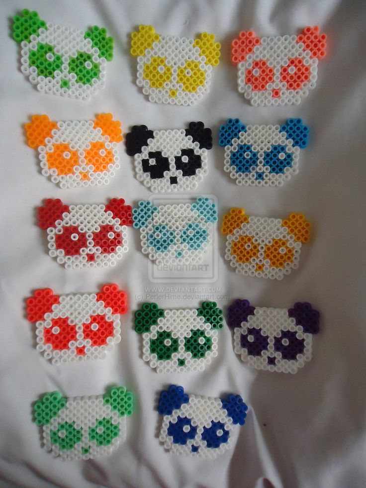Rainbow Panda Perler Collection by PerlerHime