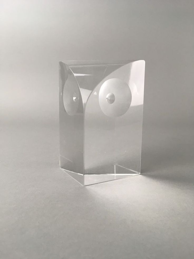 Mid Century Stylized Glass Crystal Modern Owl Sculpture #MidCenturyModern