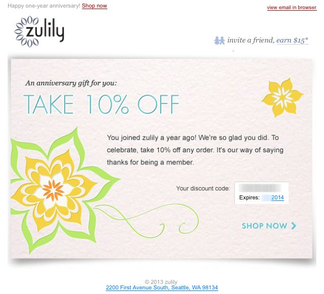 Best Email  Purchase Anniversary Email Images On