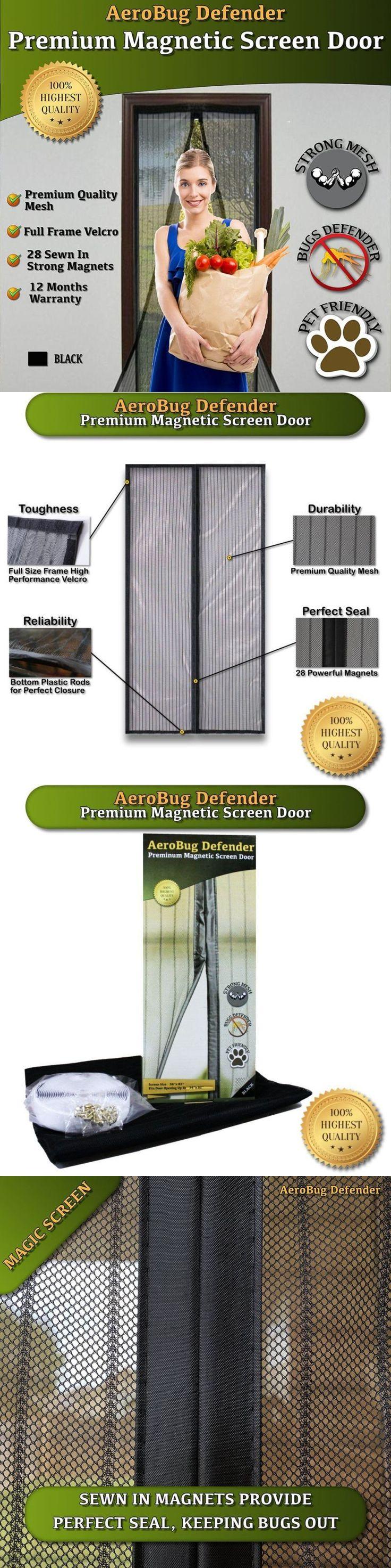 Screen Doors 180968: Magnetic Screen Door, Aerobug Defender - Heavy Duty Mesh Screen With 28 Strong M -> BUY IT NOW ONLY: $61.52 on eBay!