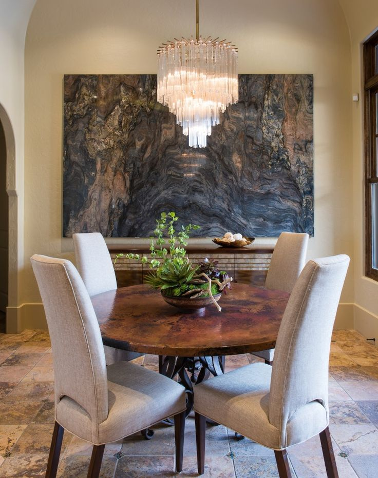 Stone slab used as wall art.  Fusion Art by Barbara Gilbert Interiors