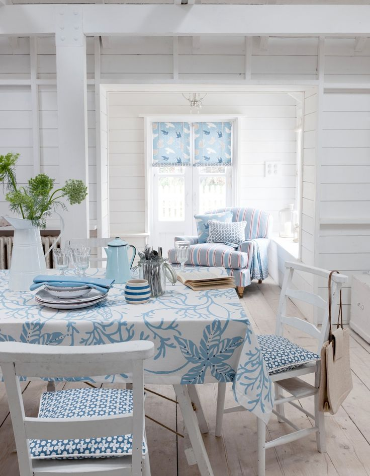 Classic beach house decor by Vincente Wolfe. Description from pinterest.com. I searched for this on bing.com/images