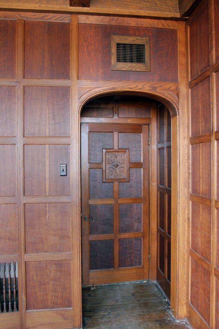 Wood Paneled Den: 1905 Tudor Style English Oak Paneled Room From Two Rivers
