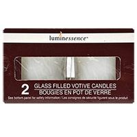 Luminessence Poured Glass Votive Candles, 2-ct. Packs