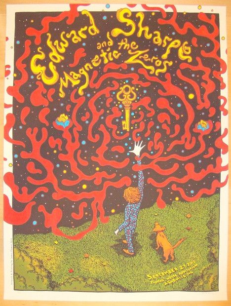 2012 Edward Sharpe - Asheville Concert Poster by James Flames