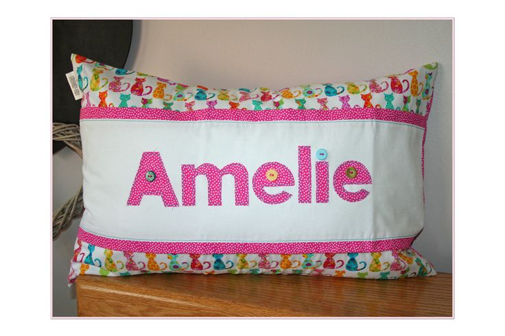 Funky personalized name scatter - for Amelie - ideal to brighten any child's room! Great gift idea. Order from Tula-tu Baby Linen - also find us on facebook