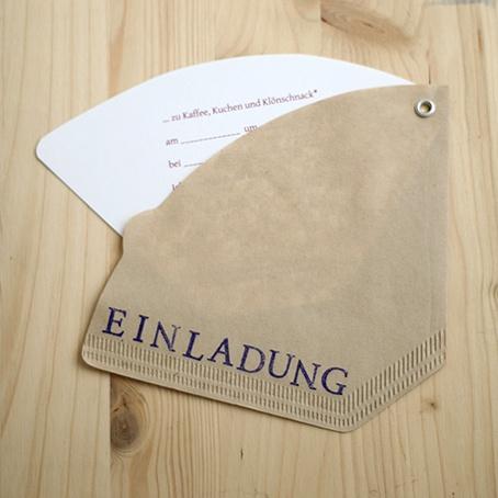 Café-Einladung, Kaffeefilter DIY,  coffee filter, idea, invitation