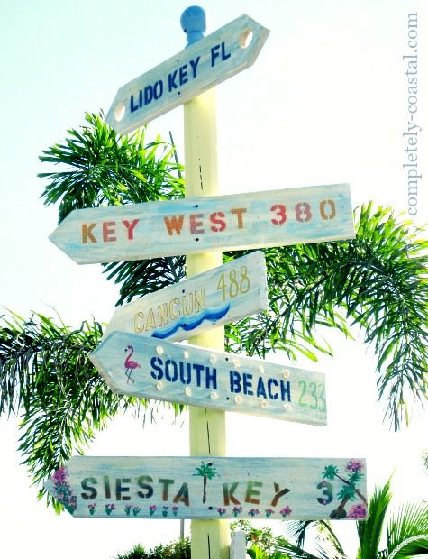Beach destination directional arrow signs coastal beach for Craft store destin fl