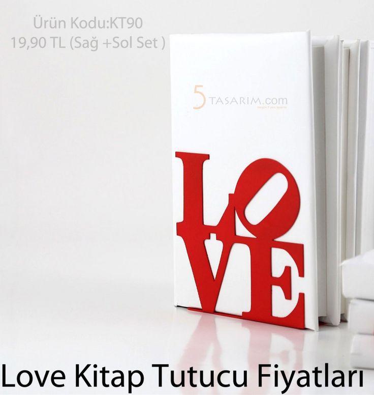 Dekoratif Love kitap tutucu fiyatları
