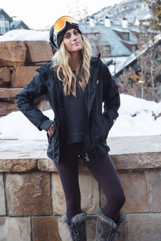 Svah Ski Slope Snowboard Lyže Zima Winter Outfit Móda Fashion Bunda Jacket Snow Sneh Lyžovanie