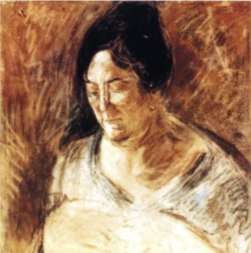 1920: Portrait of the Artist's Mother - At the age of 16, Dali was tremendously affected by the loss of his mother to breast cancer. Such constant dwelling on mortality influenced the artist heavily throughout his life. Soon after, his father married Dali's Aunty, the sister of Dali's mother.