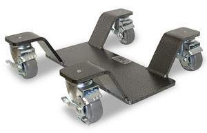 Park and move dolly for center stand.: