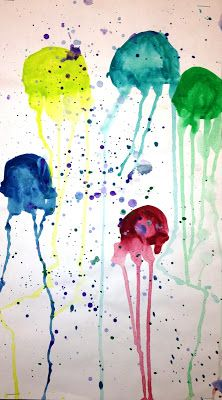 1st Grade: Jelly Fish Painting