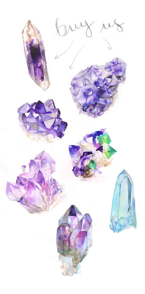 Finally posted my crystal paintings to etsy. Check it!: Crystals Watercolor, Crystals Paintings, Amethysts, Etsy, Watercolor Crystals, Check, Crystal Paintings For Sale, Finally Posted