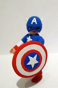 FIGURA PLAYMOBIL CUSTOM CAPITAN AMERICA - Captain America