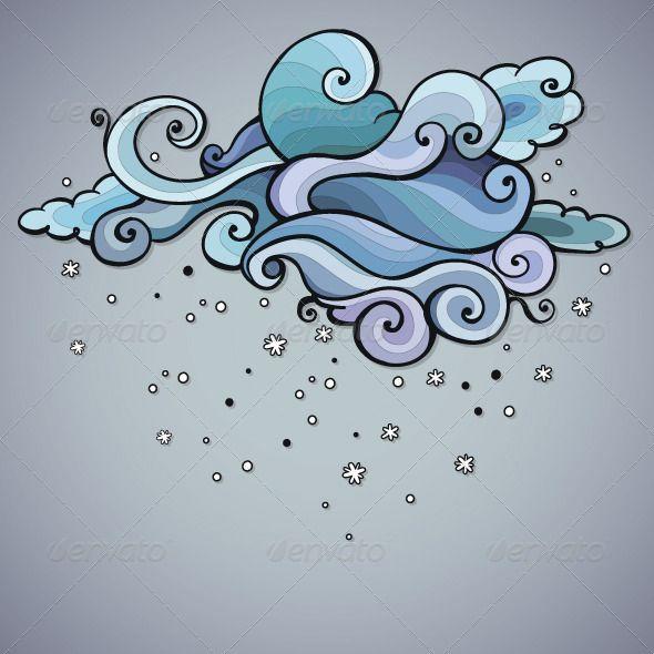 Snowing Cloud Swirls - Backgrounds Decorative