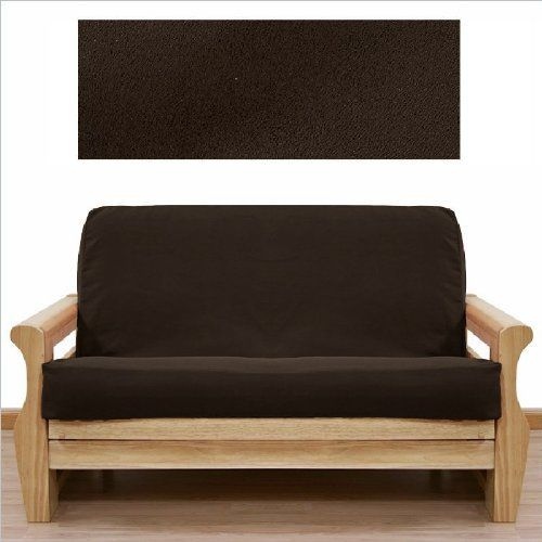 Soft Micro Suede Solid Mocha Brown Full Or Double Size Futon Cover Slipcover By Chezmoi Collection