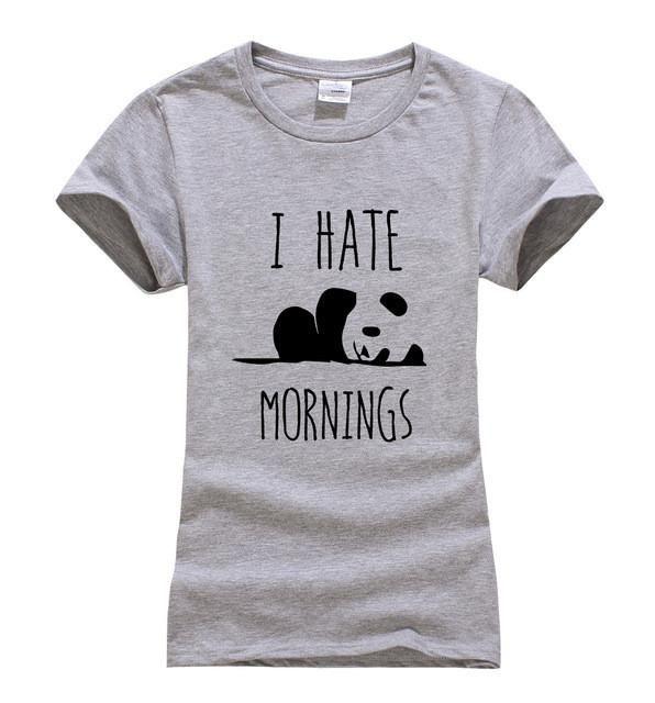 I Hate Mornings Panda   Women's T-Shirt