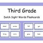 Third Grade Dolch Sight Words on flashcards!    Dolch's Sight Words are words that kiddos should be able to recognize at a particular age.     Simply p...