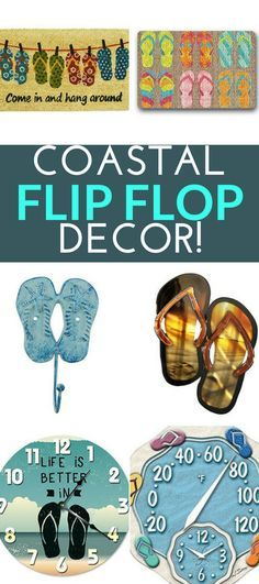 Flip Flop Decor! Discover the best flip flop decorations for your beach home. We have flip flop decor ideas and DIY projects as well that you can do.