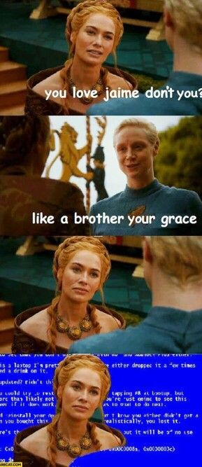 Cersei Lannister, Jaime Lannister, and Brienne of Tarth