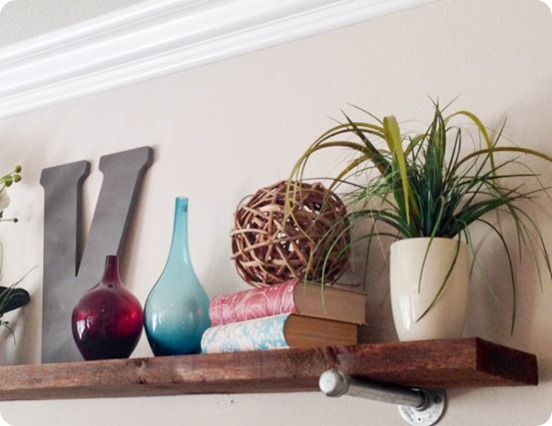 DIY Home Decor | Wood and Metal Wall Shelf {Restoration Hardware Knock Off}