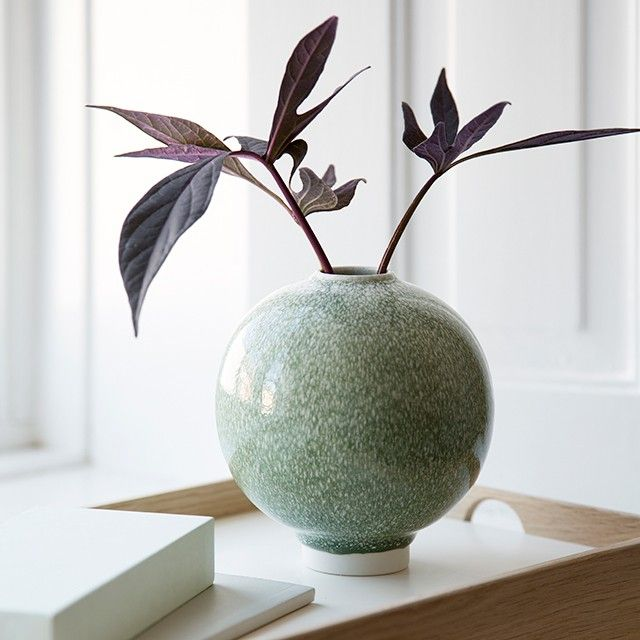 The stunning, small moss Unico vase is perfect for the style-conscious design lover with a penchant for unique art and history.
