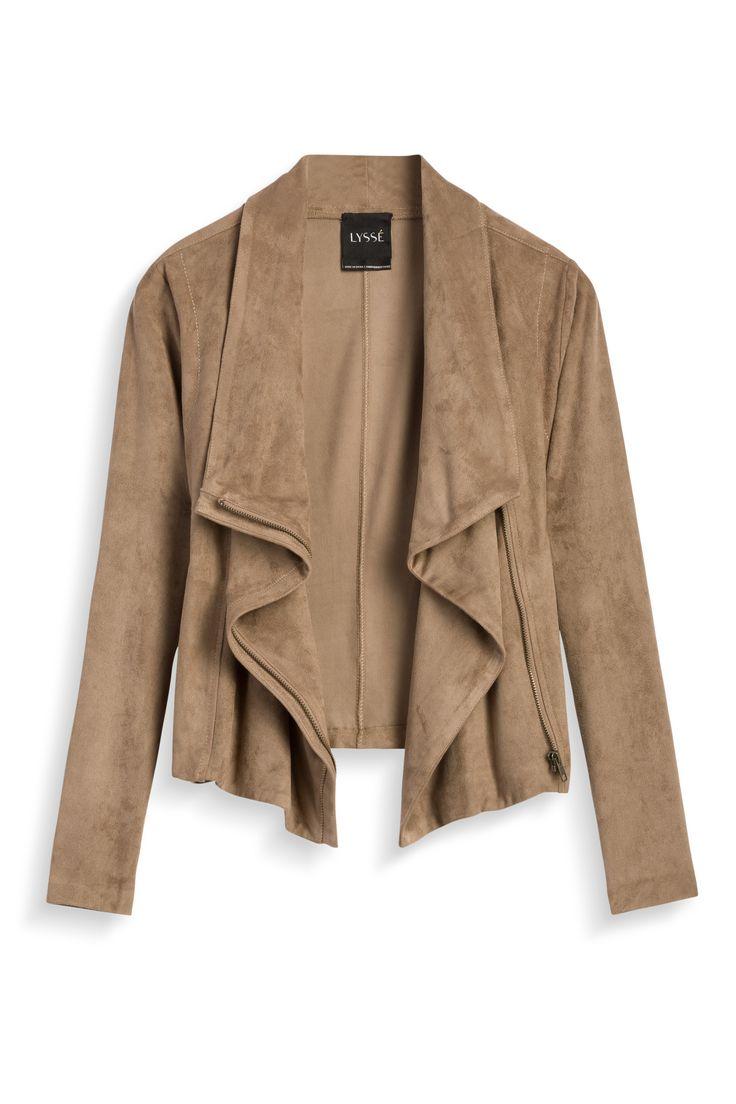 Stitch Fix Fall Styles: Faux Suede Jacket by Lysse