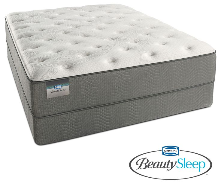 Stags Leap Luxury Firm King Mattress And Split Low-Profile Foundation Set