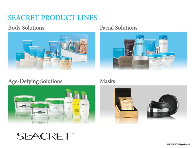 "Seacret_Product_Lines :Body Solutions, Facial Solutions, Age Defying solutions, Masks Learn more about this picture from my #Seacret Direct Review blog post: ""Seacret Direct Review: A Comprehensive Review"" by Amado Manalo Jr. For more info read the full blog post here: http://socialmediabar.com/seacret-direct-review-pinterest"