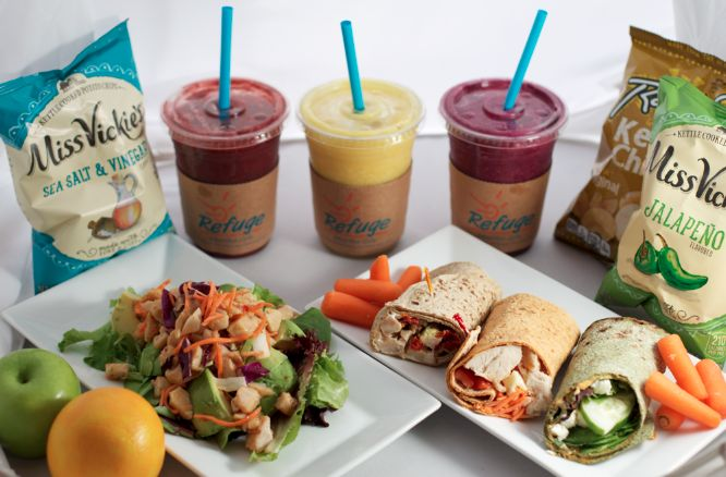 """$1.99 combos! Jan 3-6th .2016!  Jumpstart your routine in 2017 with $1.99 combos!  -All locations participating (except Bmo Harris Bradley center) -Wrap/smoothie/side combo  -Available between 10-2 each day listed above -""""I AM"""" support for clean eating -Pick up only"""