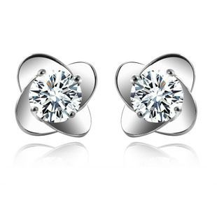 SODIAL(R) 925 sterling silver handmade earrings Lilac flower long earrings for women fine jewelry wholesale MT2LAEznKx