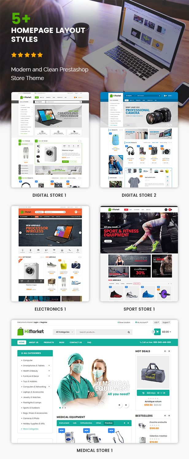 Himarket Multipurpose Responsive Prestashop 1 6 And 1 7 Mega Shop Theme Woocommerce Wordpress Themes Wordpress Theme Woocommerce