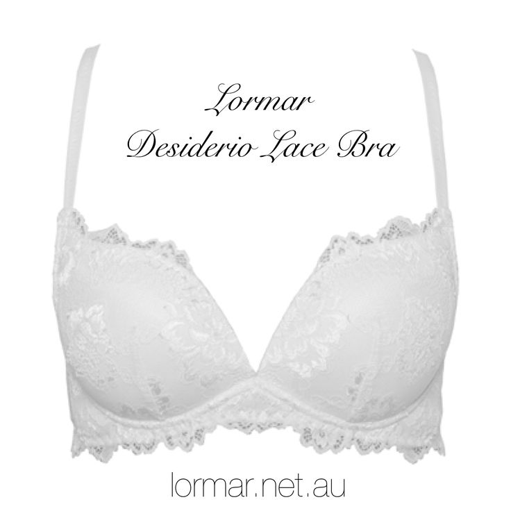 The gorgeous Lormar Desiderio Lace push up bra with no underwire... Amazing!! Buy online now at lormar.net.au