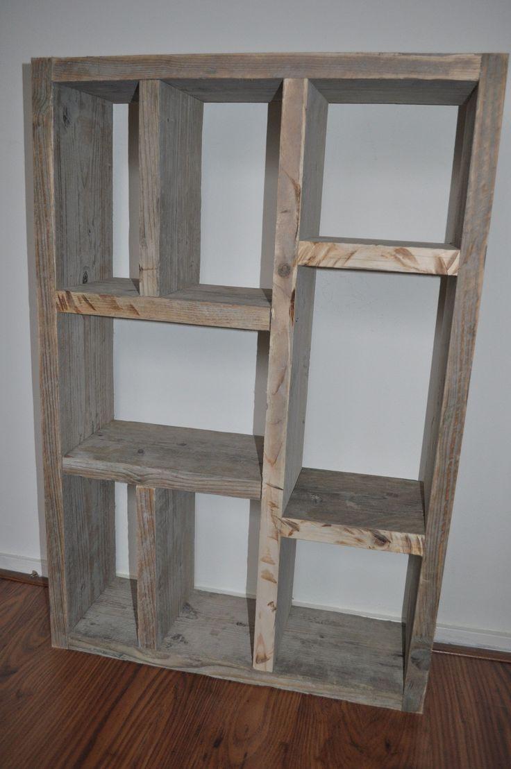 Zelfgemaakte kast steigerhout.