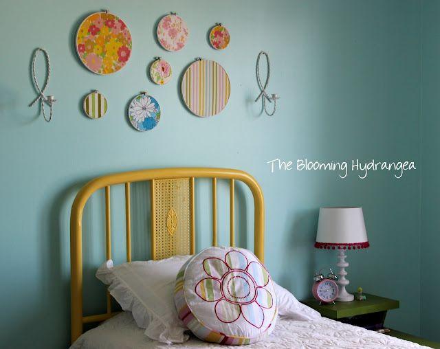 Love this decor idea with fabric