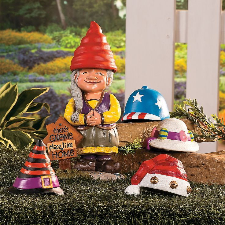Girl gnome greeter with hats debs for Combat gnomes for sale
