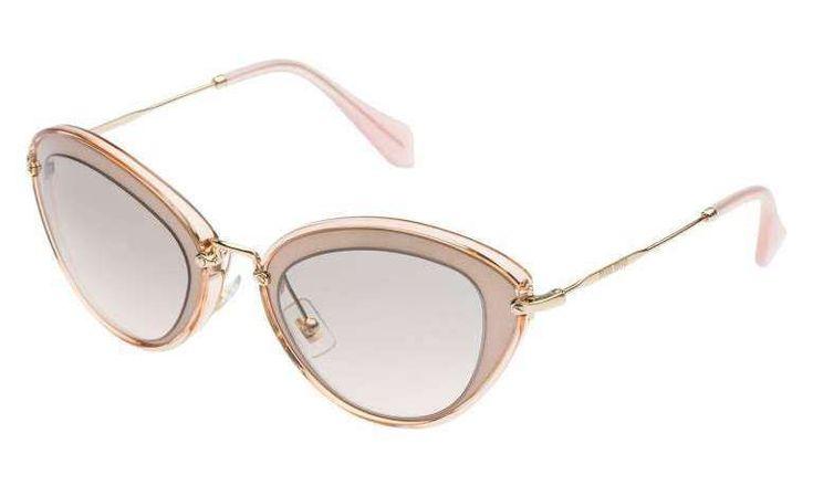 Sunglasses cat eye rosa chiaro della collezione Miu Miu  2016-2017
