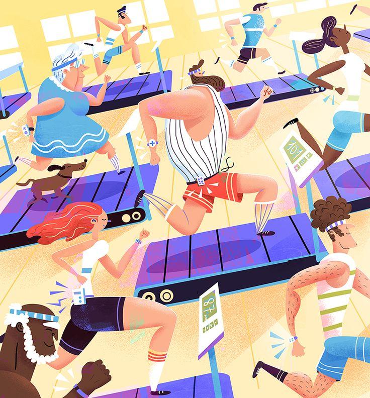 Usbek & Rica Magazine - editorial illustrations on Behance